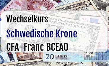 Schwedische Krone in CFA-Franc BCEAO