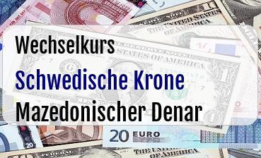 Schwedische Krone in Mazedonischer Denar