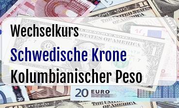 Schwedische Krone in Kolumbianischer Peso