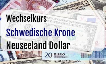 Schwedische Krone in Neuseeland Dollar