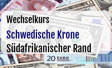 Schwedische Krone in Südafrikanischer Rand