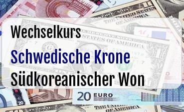 Schwedische Krone in Südkoreanischer Won