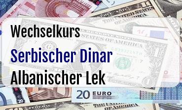 Serbischer Dinar in Albanischer Lek