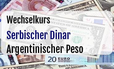 Serbischer Dinar in Argentinischer Peso