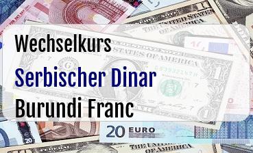 Serbischer Dinar in Burundi Franc
