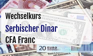 Serbischer Dinar in CFA Franc