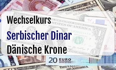 Serbischer Dinar in Dänische Krone