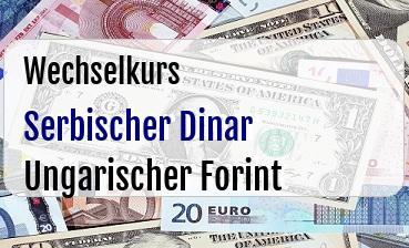 Serbischer Dinar in Ungarischer Forint