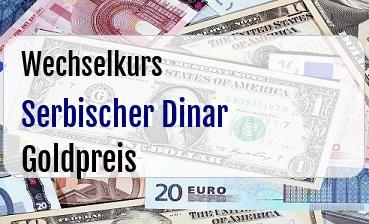 Serbischer Dinar in Goldpreis