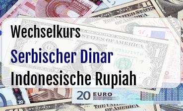 Serbischer Dinar in Indonesische Rupiah