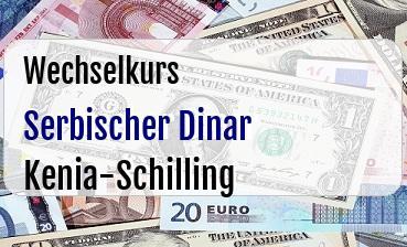 Serbischer Dinar in Kenia-Schilling