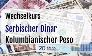 Serbischer Dinar in Kolumbianischer Peso