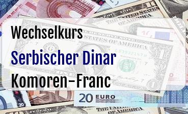 Serbischer Dinar in Komoren-Franc