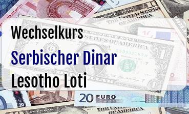 Serbischer Dinar in Lesotho Loti