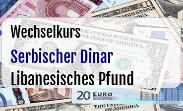 Serbischer Dinar in Libanesisches Pfund