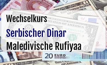 Serbischer Dinar in Maledivische Rufiyaa
