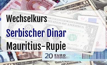 Serbischer Dinar in Mauritius-Rupie