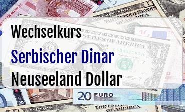 Serbischer Dinar in Neuseeland Dollar
