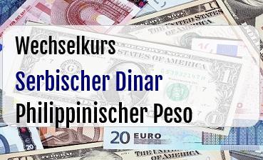Serbischer Dinar in Philippinischer Peso
