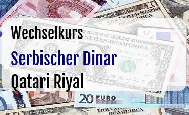 Serbischer Dinar in Qatari Riyal