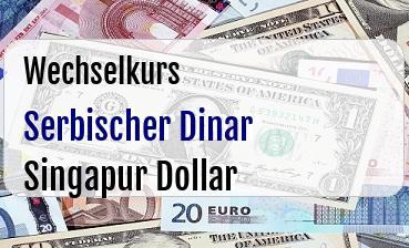 Serbischer Dinar in Singapur Dollar