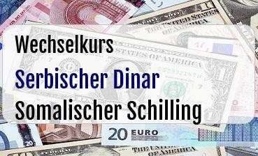 Serbischer Dinar in Somalischer Schilling