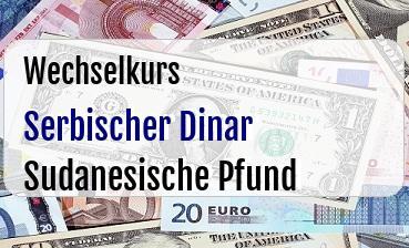 Serbischer Dinar in Sudanesische Pfund
