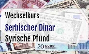 Serbischer Dinar in Syrische Pfund