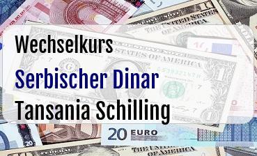 Serbischer Dinar in Tansania Schilling