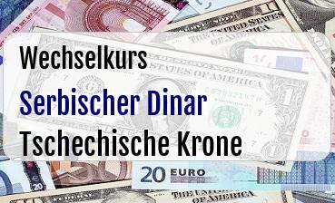 Serbischer Dinar in Tschechische Krone