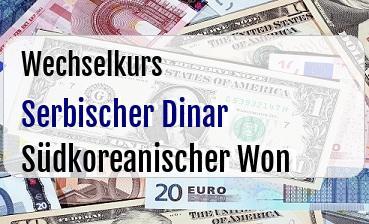 Serbischer Dinar in Südkoreanischer Won