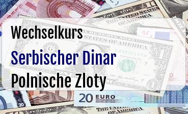 Serbischer Dinar in Polnische Zloty