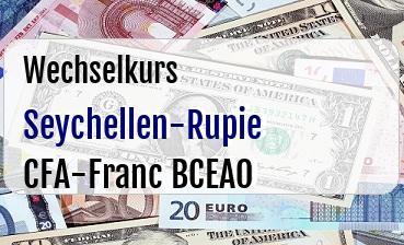 Seychellen-Rupie in CFA-Franc BCEAO