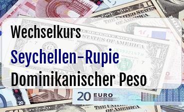 Seychellen-Rupie in Dominikanischer Peso