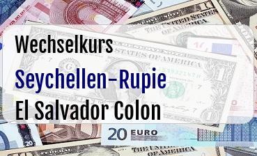 Seychellen-Rupie in El Salvador Colon