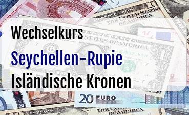 Seychellen-Rupie in Isländische Kronen