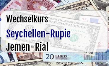 Seychellen-Rupie in Jemen-Rial