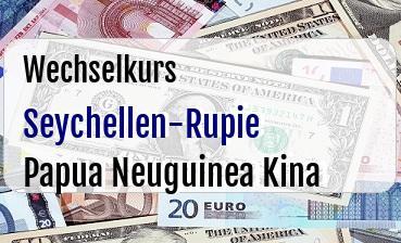 Seychellen-Rupie in Papua Neuguinea Kina