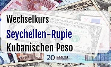 Seychellen-Rupie in Kubanischen Peso