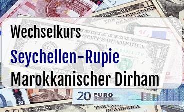 Seychellen-Rupie in Marokkanischer Dirham