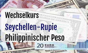 Seychellen-Rupie in Philippinischer Peso
