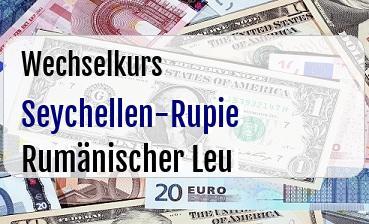 Seychellen-Rupie in Rumänischer Leu