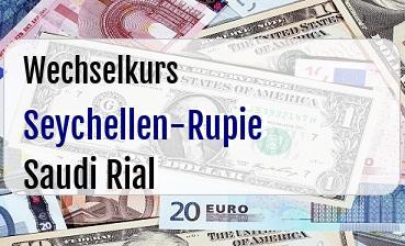 Seychellen-Rupie in Saudi Rial