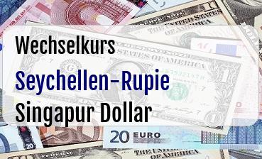 Seychellen-Rupie in Singapur Dollar