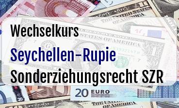 Seychellen-Rupie in Sonderziehungsrecht SZR