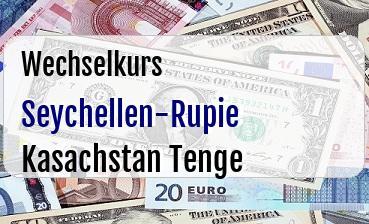 Seychellen-Rupie in Kasachstan Tenge