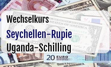 Seychellen-Rupie in Uganda-Schilling
