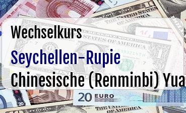 Seychellen-Rupie in Chinesische (Renminbi) Yuan