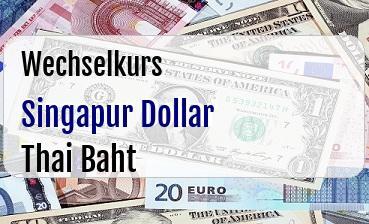 Singapur Dollar in Thai Baht