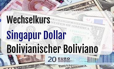 Singapur Dollar in Bolivianischer Boliviano